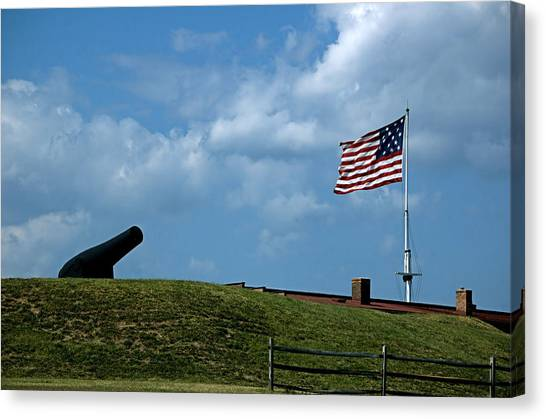 Fort Mchenry Baltimore Maryland Canvas Print by Wayne Higgs