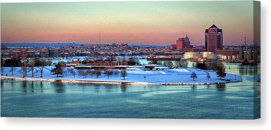 Fort Mchenry Shrouded In Snow Canvas Print