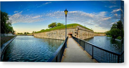 Canvas Print featuring the photograph Fort Monroe by Williams-Cairns Photography LLC