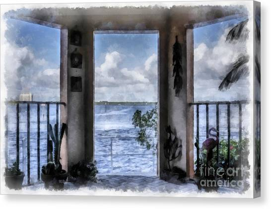 Bob Ross Canvas Print - Fort Myers Florida by Edward Fielding