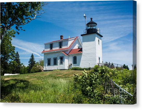 Fort Point Lighthouse  Stockton Springs Me 2  Canvas Print