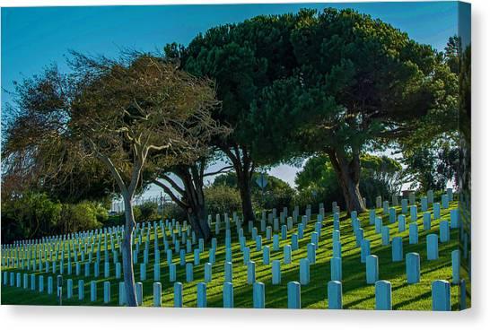 Fort Rosecrans National Cemetery Canvas Print - Fort Rosecrans National Cemetery by Patrick Burke