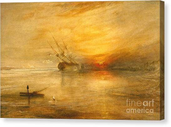 Low Tide Canvas Print - Fort Vimieux by Joseph Mallord William Turner