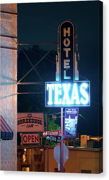 Fort Worth Hotel Texas 6616 Canvas Print
