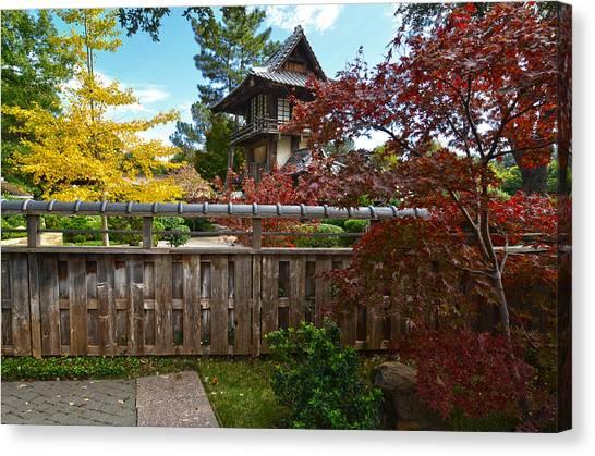 Canvas Print featuring the photograph Fort Worth Japanese Gardens 2771a by Ricardo J Ruiz de Porras