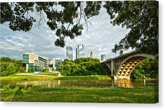 Canvas Print featuring the photograph Fort Worth Skyline 1 by Ricardo J Ruiz de Porras