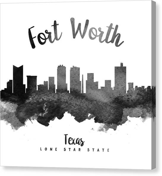 Texas Canvas Print - Fort Worth Texas Skyline 18 by Aged Pixel