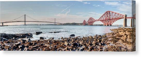 Forth Bridges Panorama Canvas Print