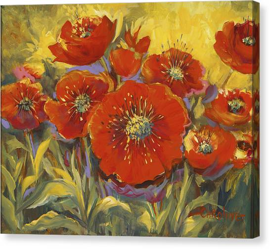 Fortuitous Poppies Canvas Print