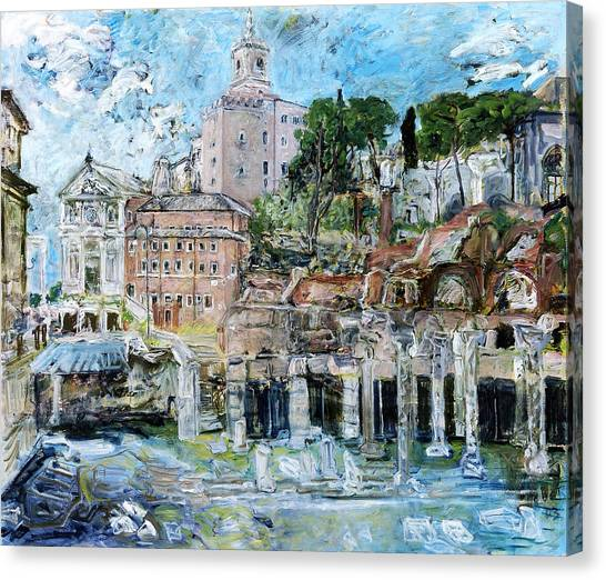 Forum Romanum Canvas Print by Joan De Bot