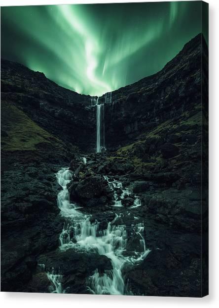 Aurora Borealis Canvas Print - Fossa Fantasy by Tor-Ivar Naess