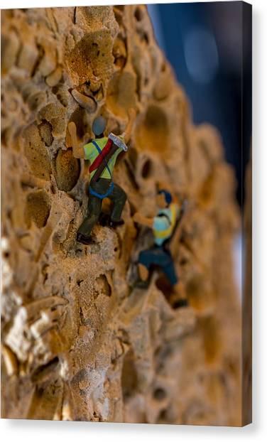 Fossil Rock Climbing Canvas Print