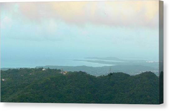 Foto Desde El Yunque Rain Forest Canvas Print