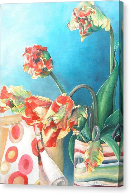 Foulard Canvas Print by Muriel Dolemieux