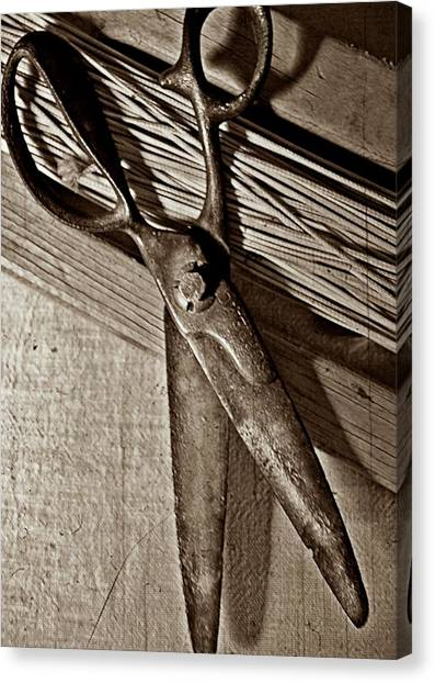 Found Objects - Scissors Canvas Print