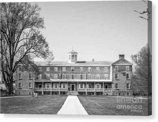 Graduate Degree Canvas Print - Haverford College Founders Hall  by University Icons