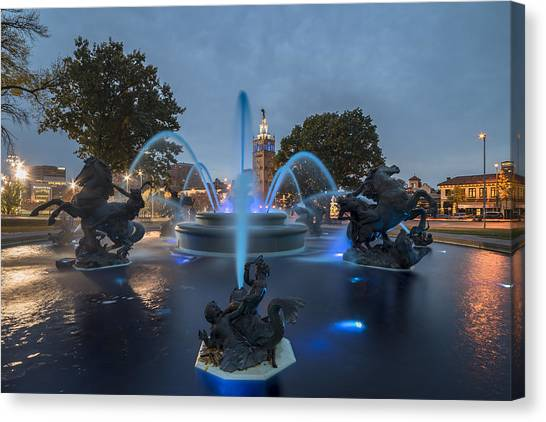 Fountain Blue Canvas Print
