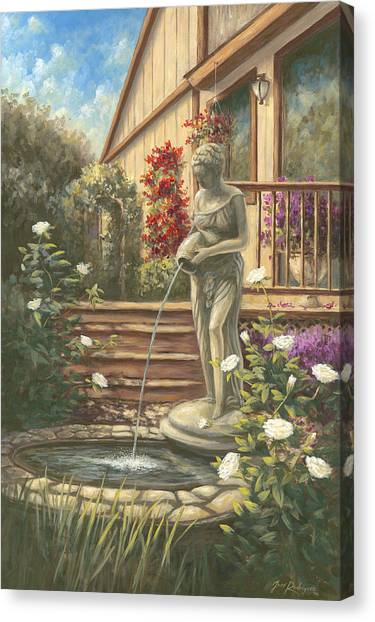 Fountain Lady Canvas Print