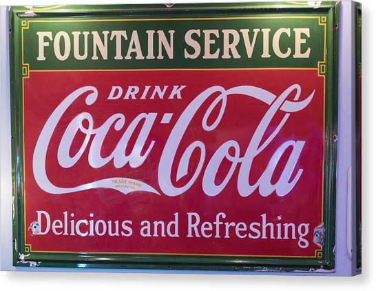 Jukebox Canvas Print - Fountain Service - Coke by Jon Berghoff