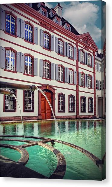 Bales Canvas Print - Fountains Of Basel Switzerland by Carol Japp
