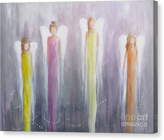 Four Angels Canvas Print