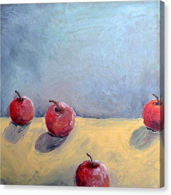 Four Apples Canvas Print