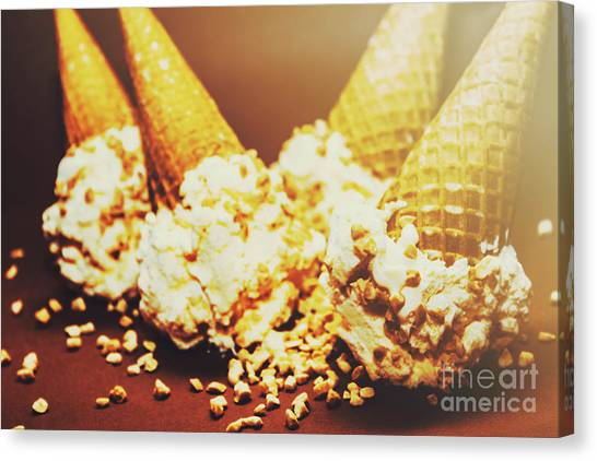 Wafer Canvas Print - Four Artistic Ice-cream Cones by Jorgo Photography - Wall Art Gallery