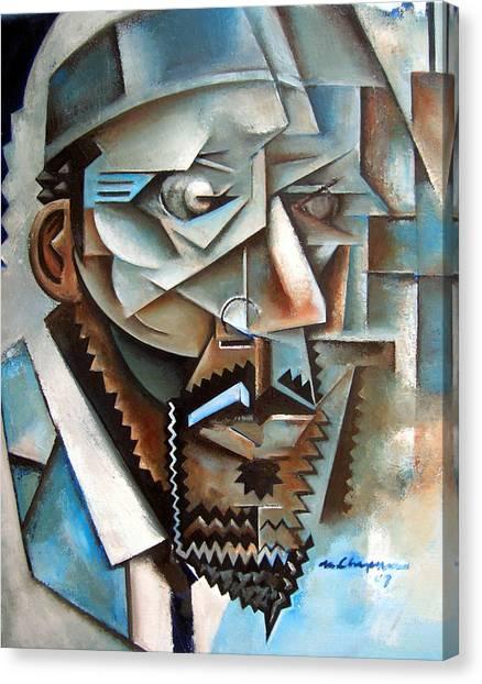 Four Blue Monk Canvas Print by Martel Chapman