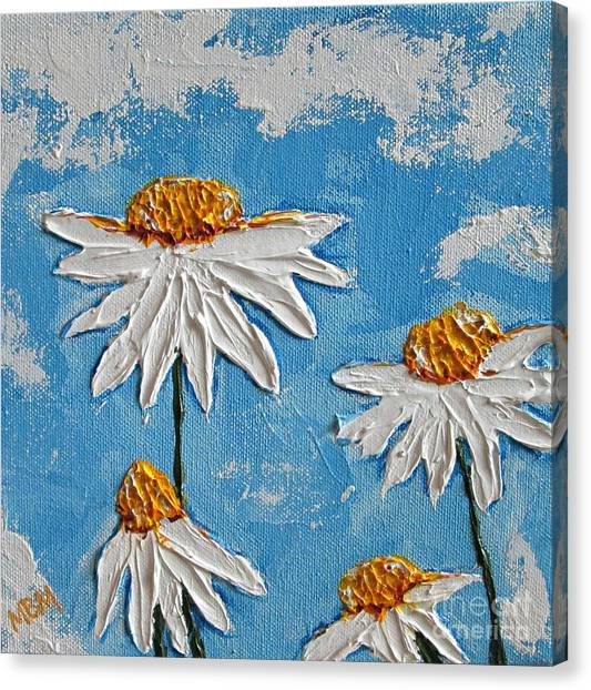 Four Daisies Canvas Print