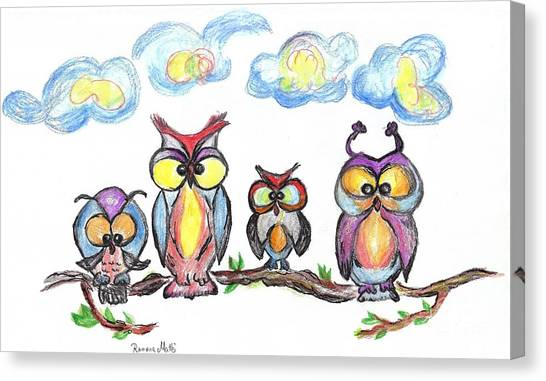 Four Friends  Canvas Print