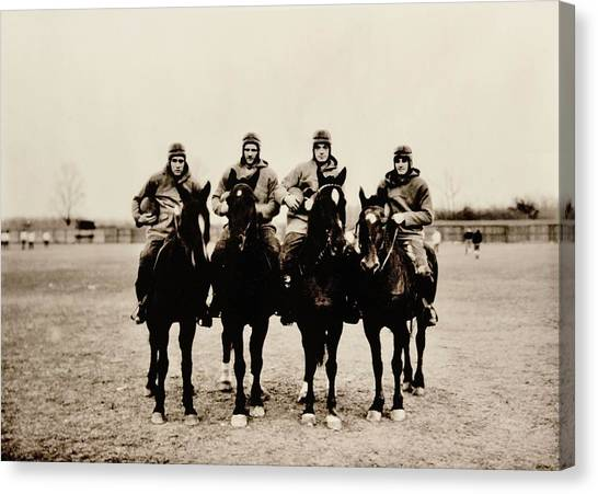 Fighting Canvas Print - Four Horsemen by Benjamin Yeager