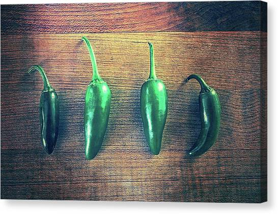 Four Jalapenos Canvas Print