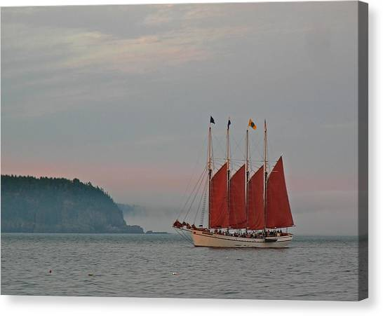 Four-masted Schooner The Margaret Todd Canvas Print by Juergen Roth