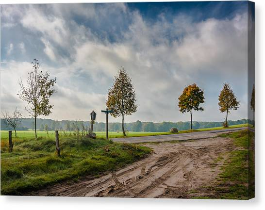 Four On The Crossroads Canvas Print