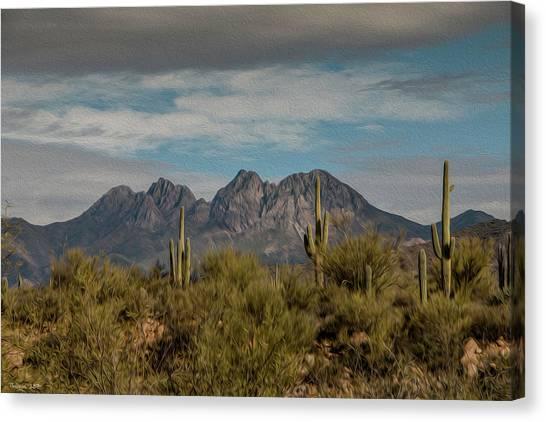 Four Peaks Painterly Canvas Print