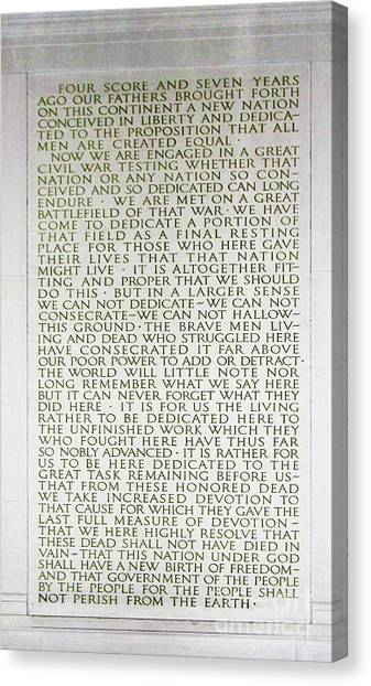 Four Score And Seven Years...... Canvas Print