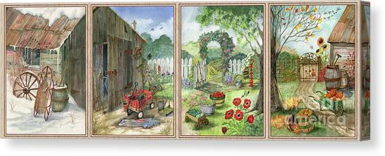 Canvas Print - Four Seasons At Grandpa's by Marilyn Smith