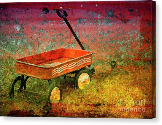 Four Ten To Red Canvas Print