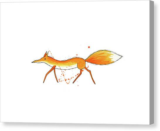 Whimsical Canvas Print - Fox  by Andrew Hitchen
