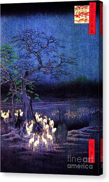 Fox Fires Canvas Print
