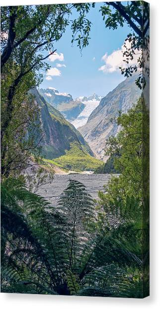 Fox Glacier Canvas Print - Fox Glacier New Zealand by Joan Carroll