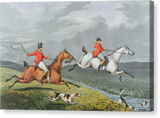 Crying Canvas Print - Fox Hunting - Full Cry by Charles Bentley