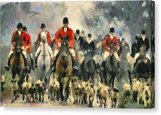 Fox Hunting Canvas Print