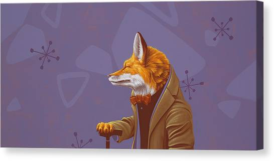 Fabled Canvas Print - Fox by Jasper Oostland