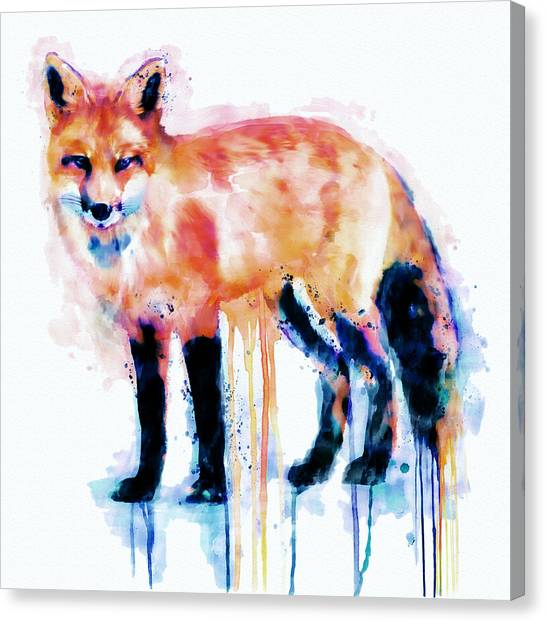 Small Mammals Canvas Print - Fox  by Marian Voicu