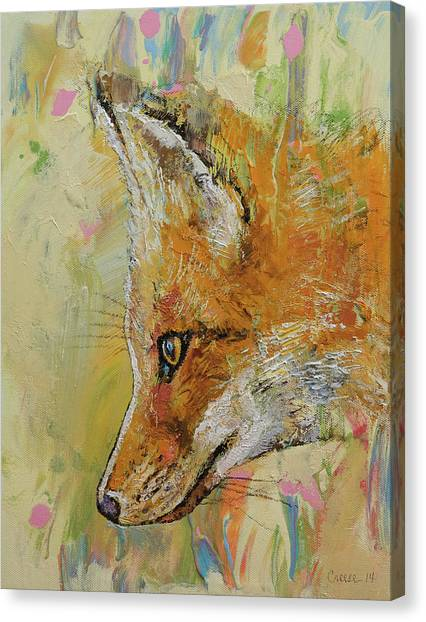 Foxes Canvas Print - Fox by Michael Creese
