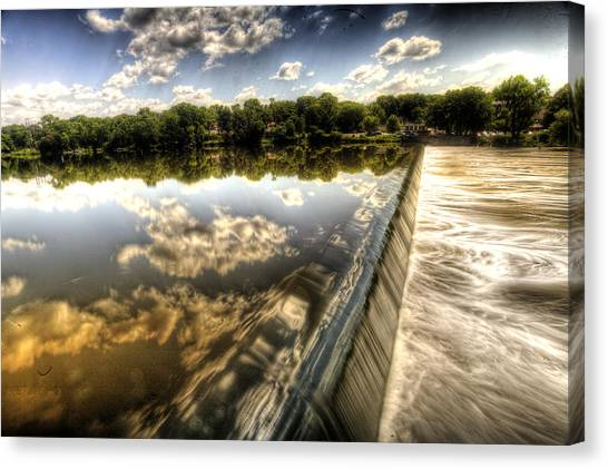 Fox River At The Geneva Dam Canvas Print