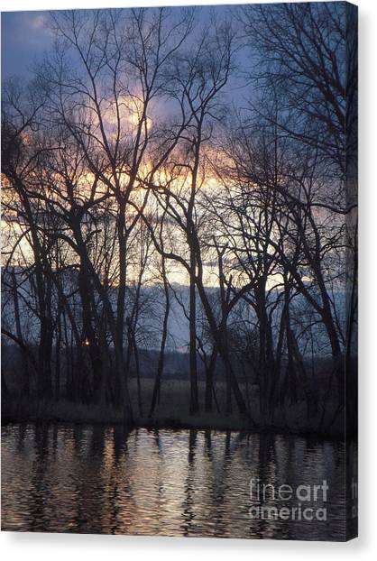 Fox River Sky Canvas Print by Deborah Finley
