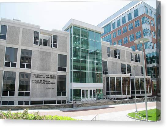Temple University Canvas Print - Fox School Of Business And Management - Temple University by Bill Cannon