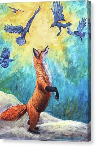 fox Canvas Print by Sebastian Pierre